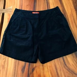 Joe Fresh black linen shorts NWOT